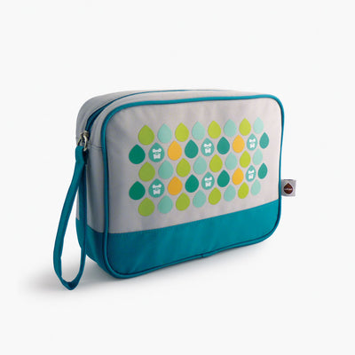 Milkdot blue travel toiletry bag.