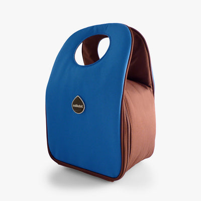 Milkdot blue insulated lunch bag.