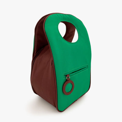 Milkdot green lunch bag back.
