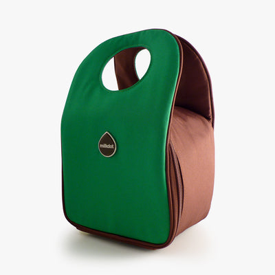 Milkdot green insulated lunch bag.