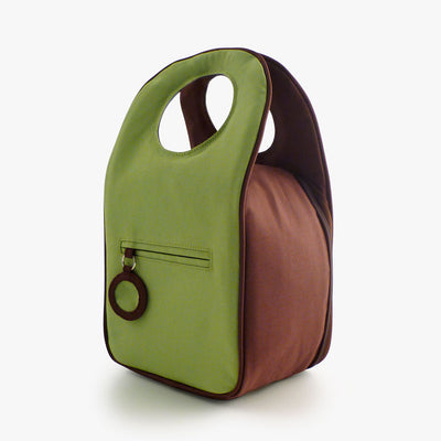 Milkdot lime insulated lunch bag back.