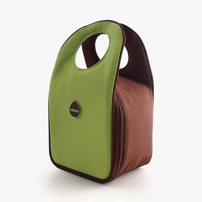 Milkdot lime insulated lunch bag.