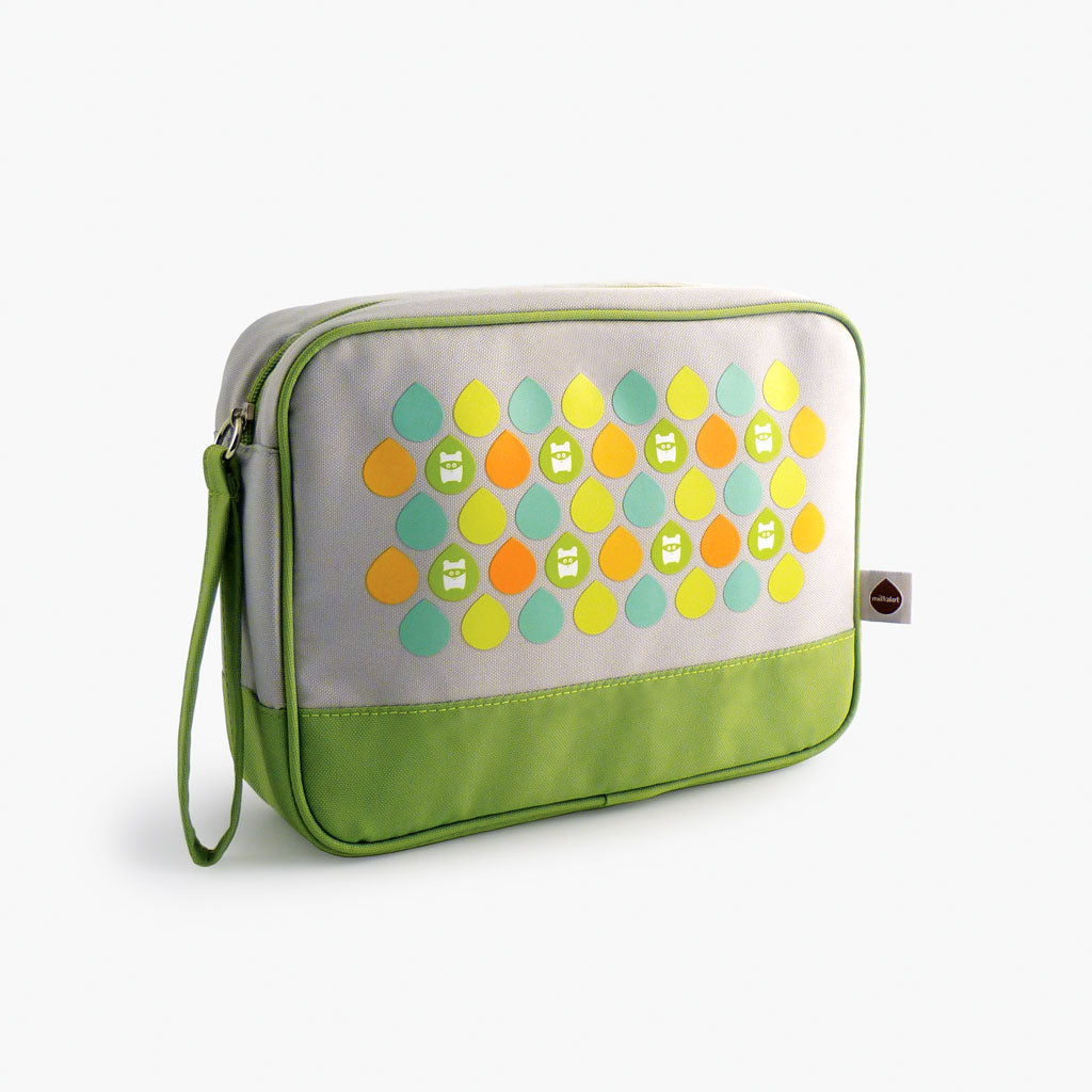 Milkdot lime travel toiletry bag.