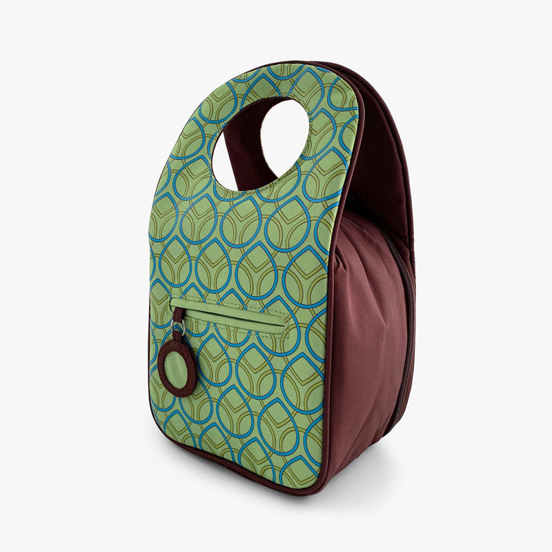 Lunch bag with Lime Dots print by Milkdot.