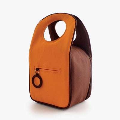 Milkdot orange insulated lunch box back.