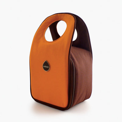 Milkdot orange insulated lunch box.