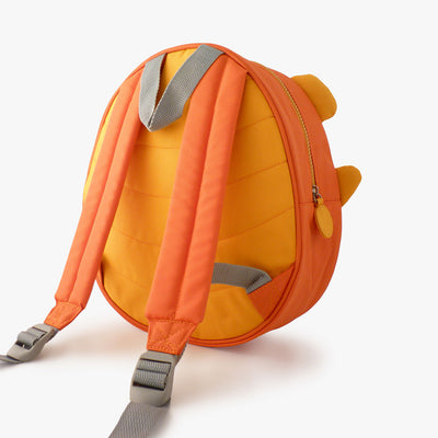 Milkdot orange toddler backpack back view.