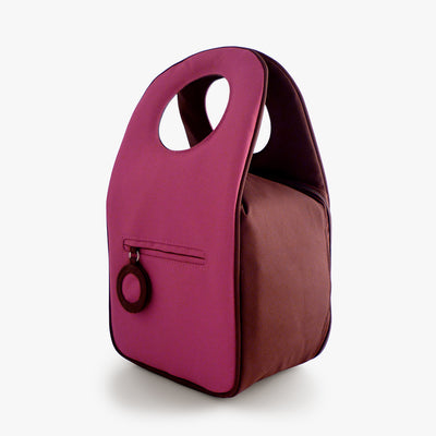 Milkdot plum insulated lunch bag back.