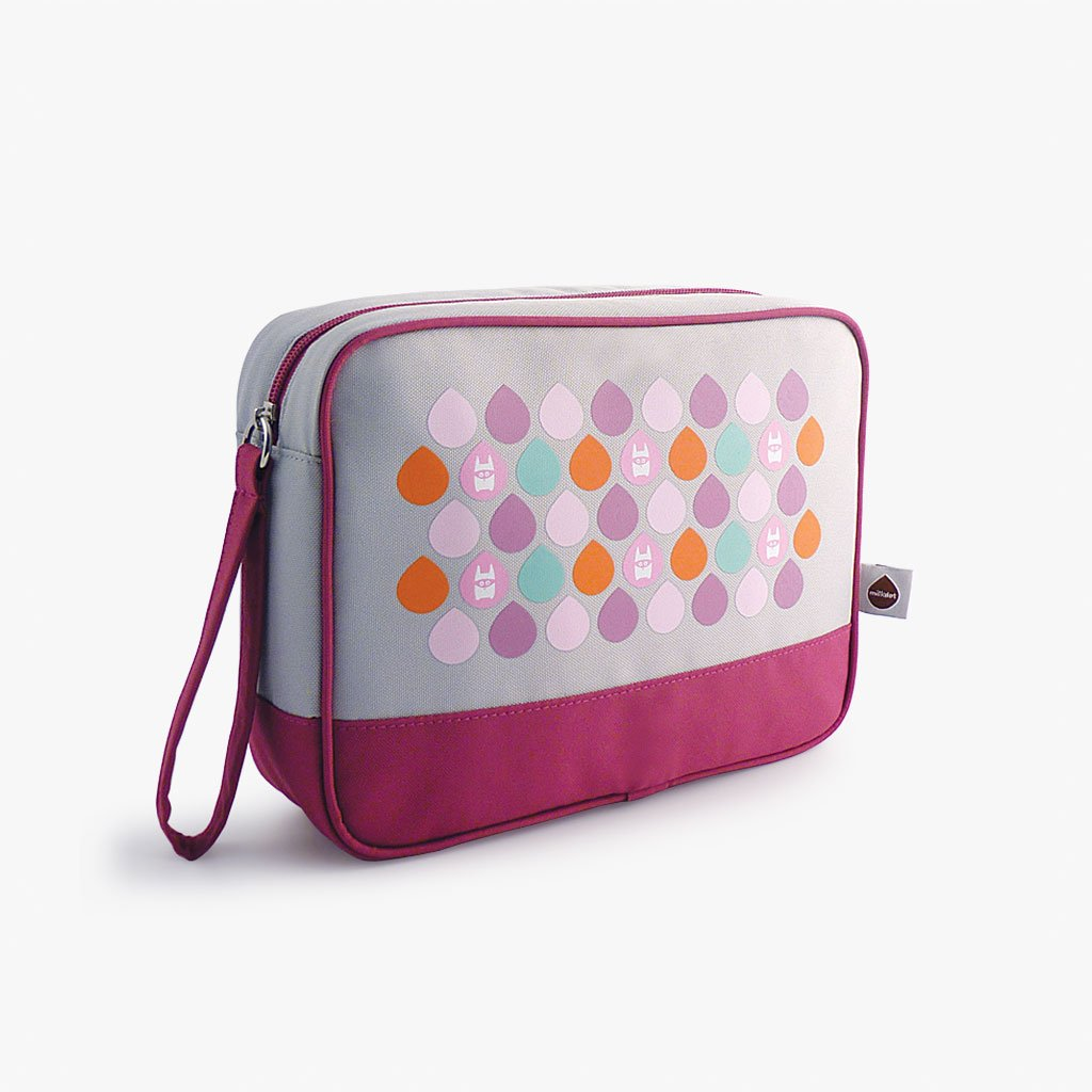 Milkdot plum travel toiletry bag.
