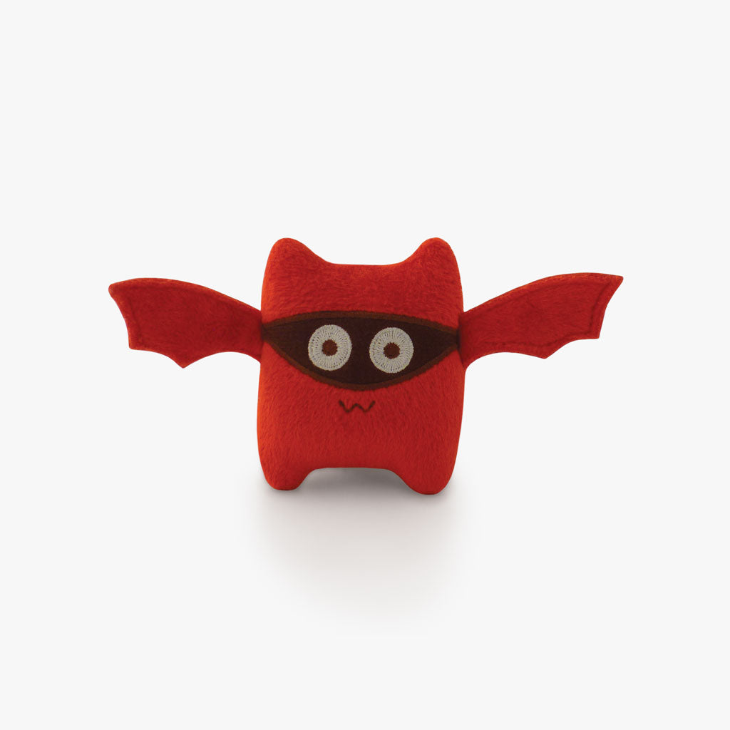 Milkdot red bat plush toy keychain.