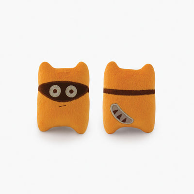 Milkdot orange Kitiro plush toy keychain.
