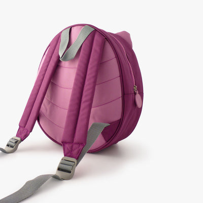 Milkdot purple toddler backpack back view.