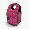 Lunch bag with Snackmates Plum print by Milkdot back view.