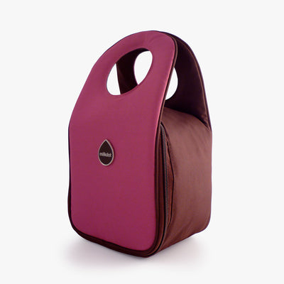 Milkdot plum insulated lunch bag.