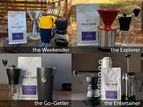 coffee gear set-up ideas from slow wave coffee