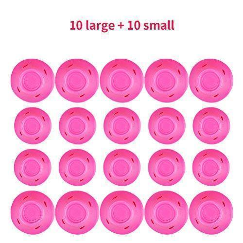 20 Packs Pink Magic Hair Rollers No Heat No Damage to Hair