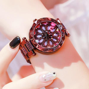 (Only $13.90 Last Day!!) Women Waterproof Flower Quartz Watch