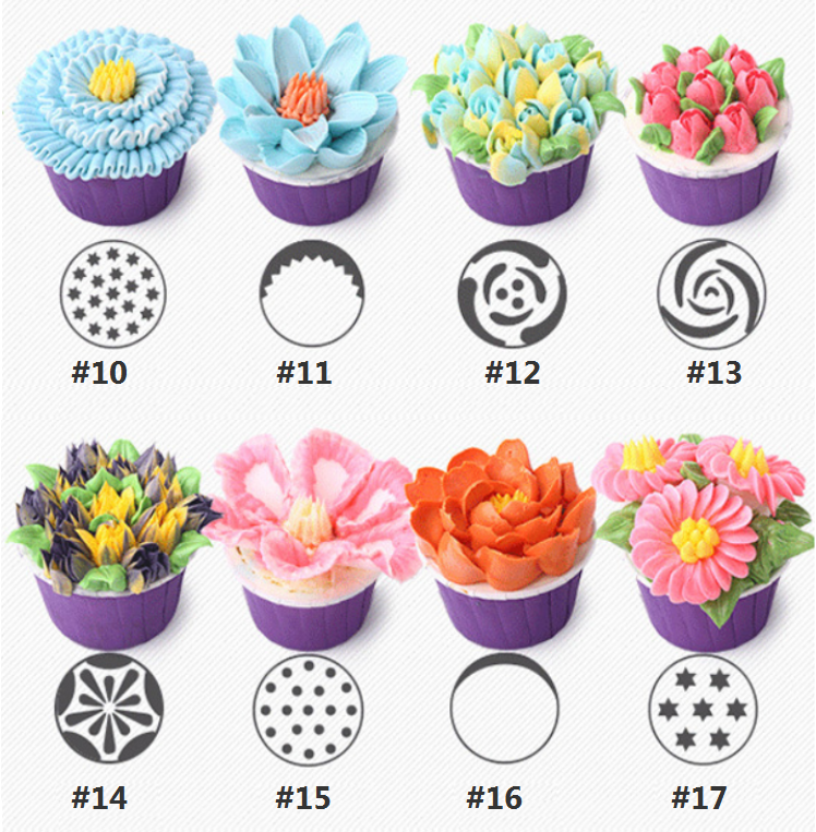 2019 New Russian tulip icing piping nozzles - buy 3 get 1 free!!!