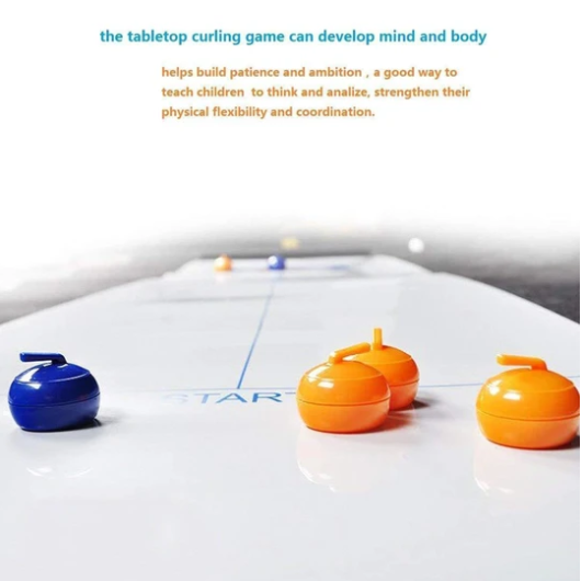 Tabletop Bulls Eye Curling Game