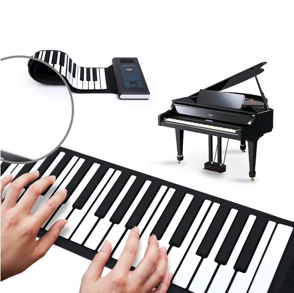 Ultra Portable Roll-Up Piano with Full Soft Responsive Keys