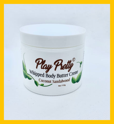 Coconut & Sandalwood Whipped Body Butter Creme 4 oz.