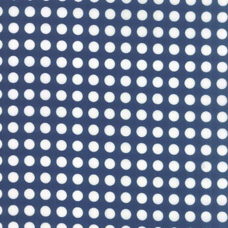 Moda Gooseberry Midnight Blue Fabric Polka Dot Cotton