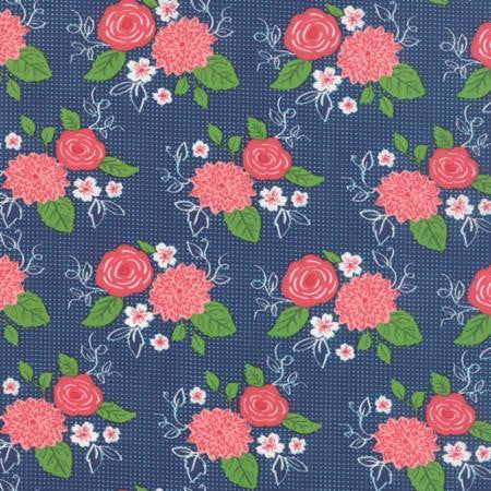 Moda Gooseberry Midnight Blue Fabric Cotton