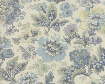 Moda Snowbird Vanilla Winter Morning Blue Fabric
