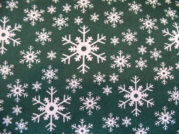 Christmas Poly Cotton - Snowflakes