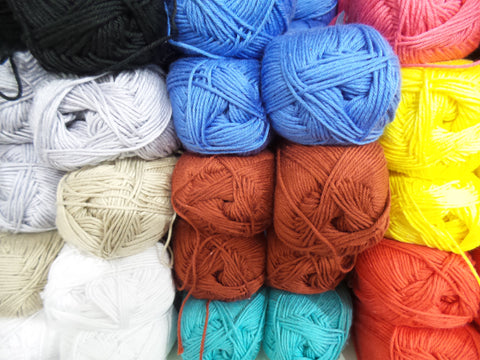 Bergere de France Coton Fifty Knitting Yarn 4 ply - Various Colours