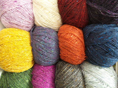 Debbie Bliss Fine Donegal 4 ply Knitting Yarn Various Colours
