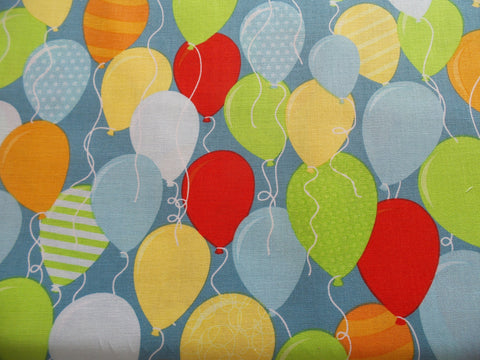 Riley Blake Balloons Surprise! Blue Fabric