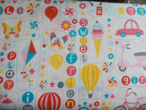 Riley Blake Girl Crazy Pink Fabric