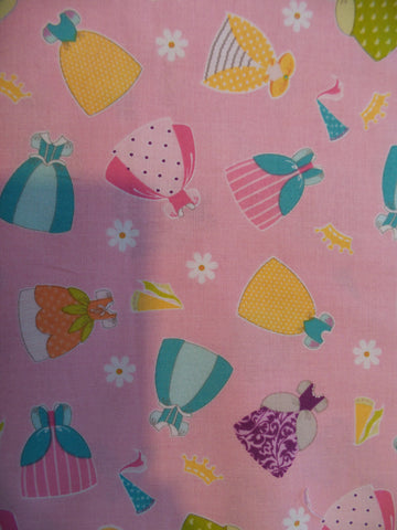 Riley Blake Dream & a wish Dresses Pink Fabric