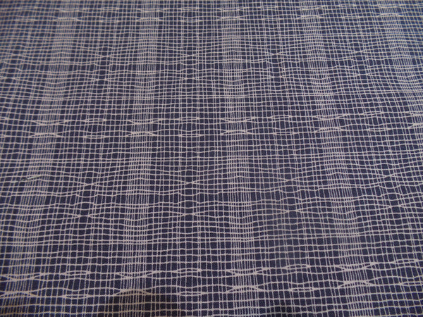 Makower Stitch Check Blue Grey fabric