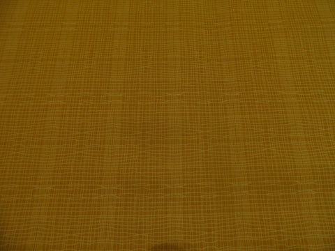 Makower Stitch Check Gold Yellow Fabric