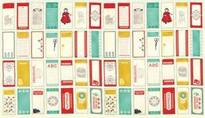 "Moda Fabric ""Baby Jane Labels"" Cream Fabric"