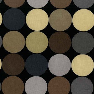 Michael Miller Disco Dot Brown Black Fabric