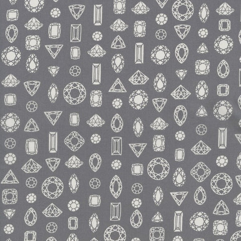 Cotton & Steel Moonlit Cotton Lawn Grey Fabric
