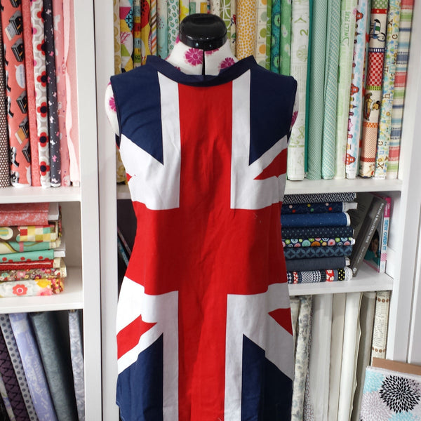 Riley Blake Union Jack Red White Blue Fabric Large 90cm