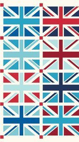 Riley Blake Fabric Union Jack - Blue Fabric 60cm repeat