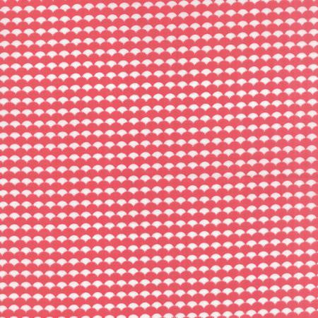 Moda Gooseberry Pink Scallop Print Red Fabric Cotton