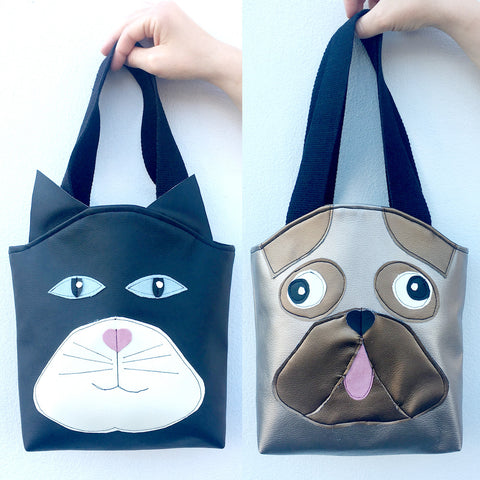 Pug and Cat Tote Bags - (Thursday 31 August, 10am - 1pm)
