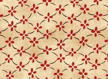 Red Rooster Fabrics Home To Roost Red Beige Fabric