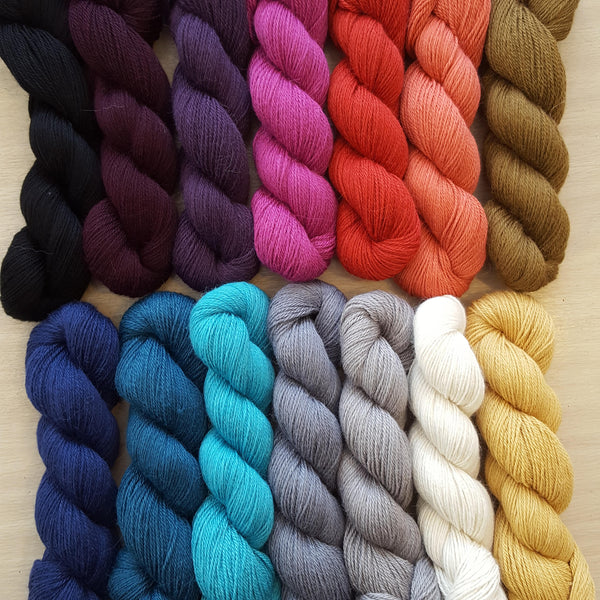 AYNI-  50g hank luxury knitting yarn by Amano. Various colours