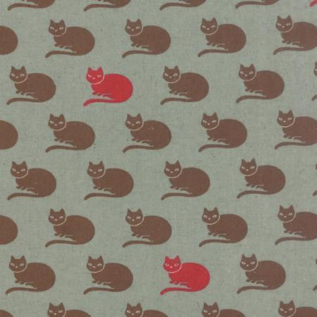 Moda Fabric Neco Cotton/Linen Sky Cat Blue Fabric