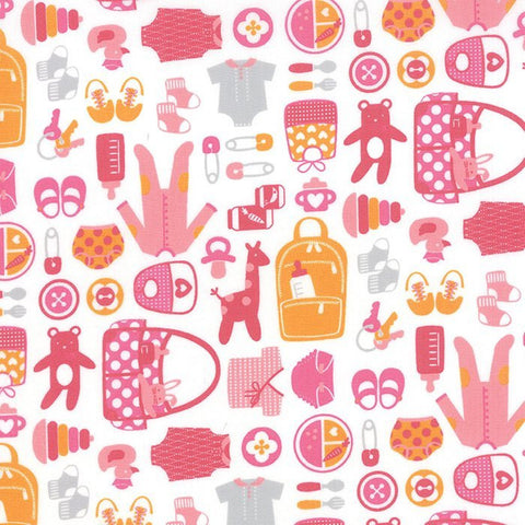 Moda Fabric. From Bump to Baby. Pink Fabric