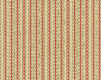 Moda Autumn Lily Red Beige Fabric