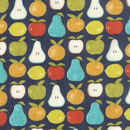 Moda Garden Project Blueberry Navy Fabric