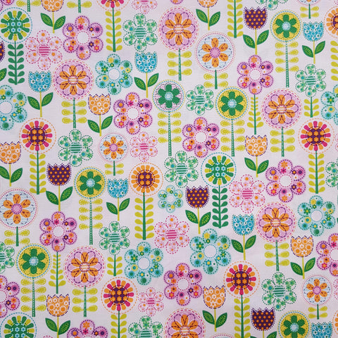 Michael Miller Fantasy Flowers Pink Fabric